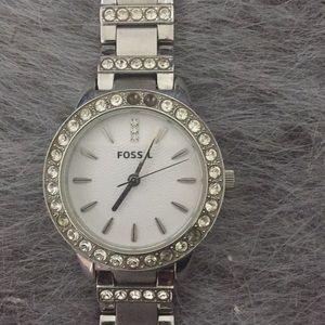 Fossil watch, steel, silver